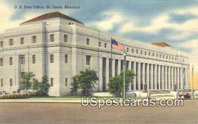 US Post Office - St. Louis, Missouri MO Postcard