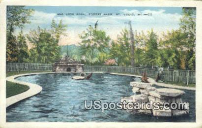 Sea Lion Pool, Forest Park - St. Louis, Missouri MO Postcard