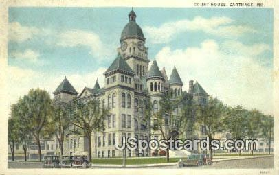 Court House - Carthage, Missouri MO Postcard