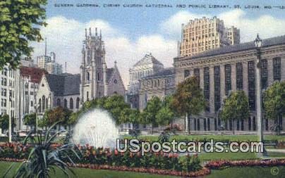 Sunken Gardens, Christ Church - St. Louis, Missouri MO Postcard