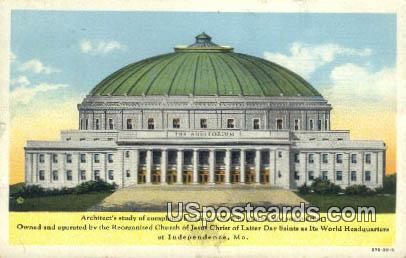 The Auditorium - Independence, Missouri MO Postcard