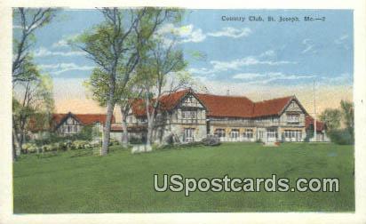 Country Club - St. Joseph, Missouri MO Postcard