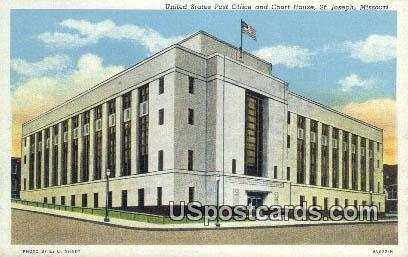 United States Post Office & Court House - St. Joseph, Missouri MO Postcard