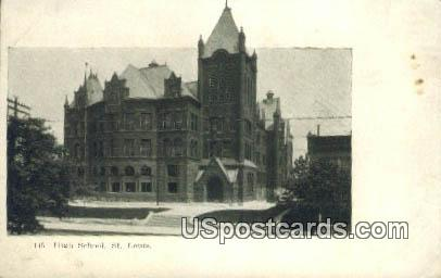 High School - St. Louis, Missouri MO Postcard