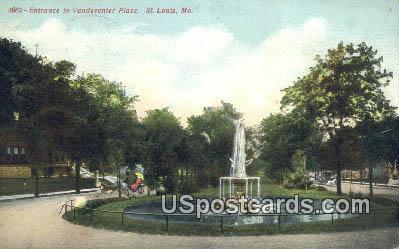 Vandeventer Place - St. Louis, Missouri MO Postcard
