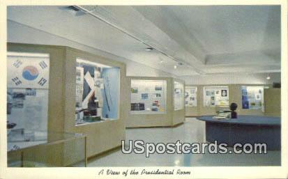 Presidential Room, Harry S Truman Library - Independence, Missouri MO Postcard