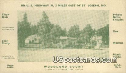 Woodland Court - St. Joseph, Missouri MO Postcard