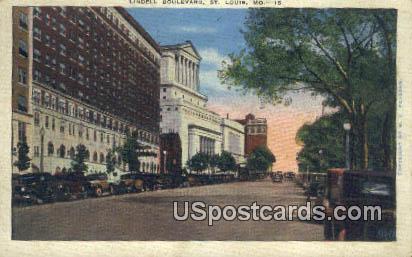 Lindell Boulevard - St. Louis, Missouri MO Postcard