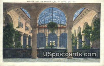Monkey House, Forest Park - St. Louis, Missouri MO Postcard