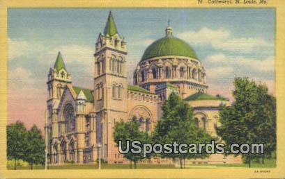 Cathedral - St. Louis, Missouri MO Postcard