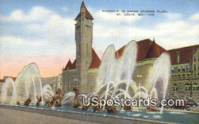 Fountain, Union Station Plaza - St. Louis, Missouri MO Postcard