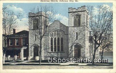 Christian Church - Jefferson City, Missouri MO Postcard