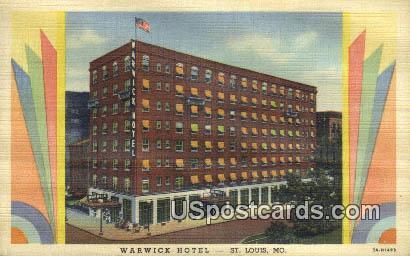 Warwick Hotel - St. Louis, Missouri MO Postcard