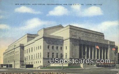 New Municipal Auditorium - St. Louis, Missouri MO Postcard