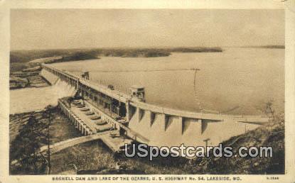 Bagnell Dam & Lake, Ozarks - Lakeside, Missouri MO Postcard
