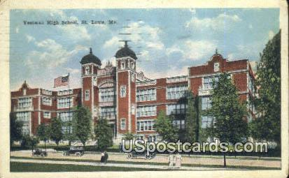 Yeatman High School - St. Louis, Missouri MO Postcard