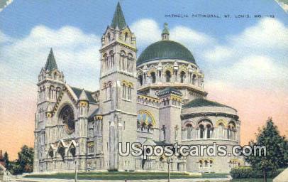 Catholic Cathedral - St. Louis, Missouri MO Postcard