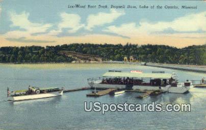 Wood Boat Dock, Bagnell Dam - Lake of the Ozarks, Missouri MO Postcard