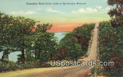Horseshoe Bend Drive - Lake of the Ozarks, Missouri MO Postcard
