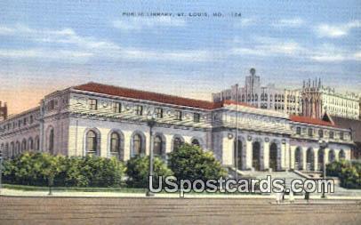 Public Library - St. Louis, Missouri MO Postcard