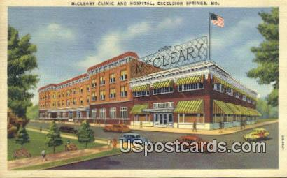 McCleary Clinic & Hospital - Excelsior Springs, Missouri MO Postcard