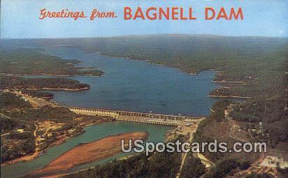Bagnell Dam & Lake, Ozarks - Missouri MO Postcard