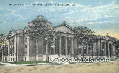 Independence Avenue Christian Church - Kansas City, Missouri MO Postcard