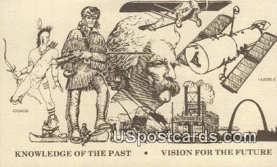 Knowledge of the Past - Misc, Missouri MO Postcard
