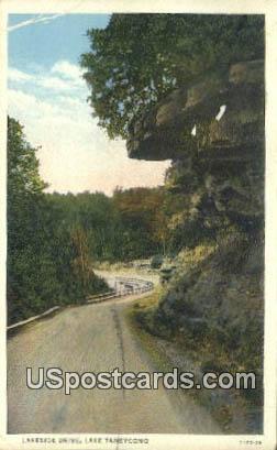 Lakeside Drive - Lake Taneycomo, Missouri MO Postcard