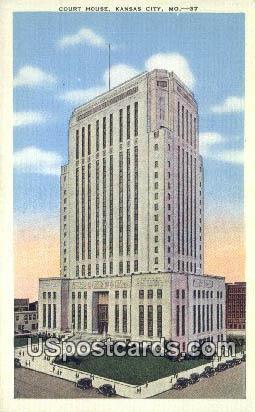 Court House - Kansas City, Missouri MO Postcard