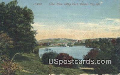 Lake, Penn Valley Park - Kansas City, Missouri MO Postcard