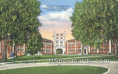 Walter Williams Hall, University of Missouri - Columbia Postcard