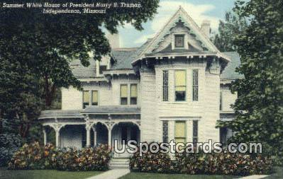 White House of President Harry S Truman - Independence, Missouri MO Postcard