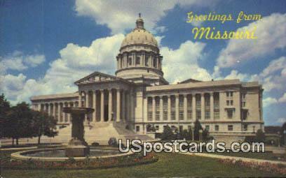 Missouri State Capitol - Jefferson City Postcard