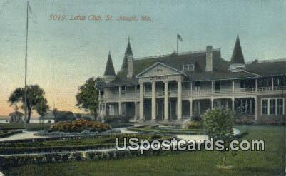 Lotus Club - St. Joseph, Missouri MO Postcard