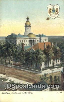 Capitol - Jefferson City, Missouri MO Postcard