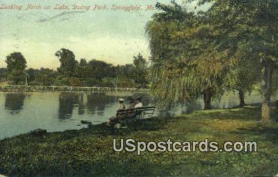 Lake, Doling Park - Springfield, Missouri MO Postcard