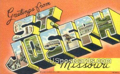 St. Joseph, MO Postcard     ;          St. Joseph, Missouri