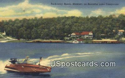 Lake Taneycomo - Rockaway Beach, Missouri MO Postcard