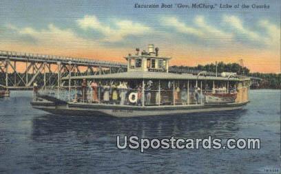 Excursion Boat, Gov McClurg - Lake of the Ozarks, Missouri MO Postcard
