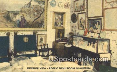 Rose O'Neill Room in Museum - Branson, Missouri MO Postcard