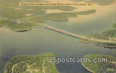 Grand Glaize Bridge - Lake of the Ozarks, Missouri MO Postcard
