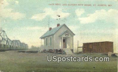 Jack Ring Life Savers New Home - St. Joseph, Missouri MO Postcard
