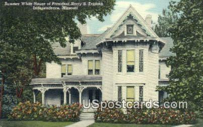 Summer White House of President Harry S Truman - Independence, Missouri MO Postcard