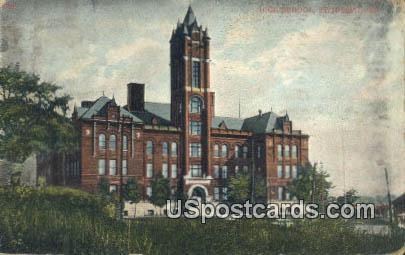 High School - St. Joseph, Missouri MO Postcard