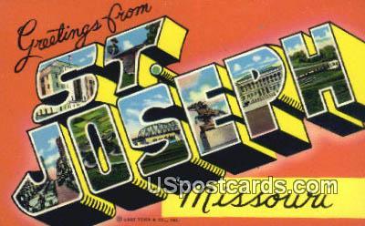 St. Joseph, Missouri Postcard     ;     St. Joseph, MO