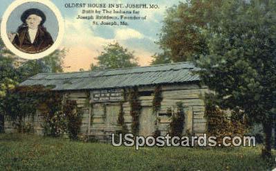 Oldest House in St Joseph - St. Joseph, Missouri MO Postcard