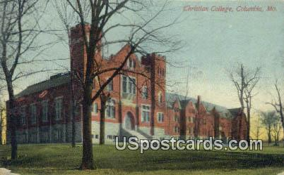 Christian College - Columbia, Missouri MO Postcard