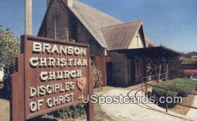 Branson Christian Church - Missouri MO Postcard