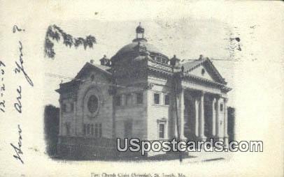 First Church Christ Scientist - St. Joseph, Missouri MO Postcard